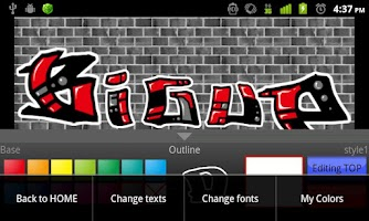 Screenshot of Graffiti Maker