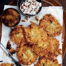 Latkes with Lots of Sauces