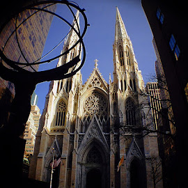 Playing with my fisheye lens #stpatrick #cathedral #5thavenyc #nyc by Mauro Gagliardi - Buildings & Architecture Places of Worship