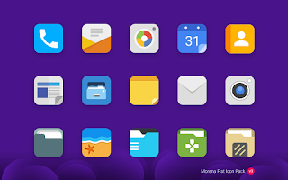 Screenshot of Morena - Flat Icon Pack