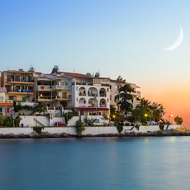Sunset by Luci Marin - Landscapes Sunsets & Sunrises ( blue hour, sunset, new moon, long exposure, seascape, golden hour )
