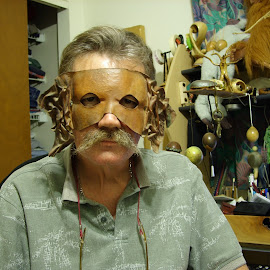 The Mask by Mike  Simpson - People Portraits of Men
