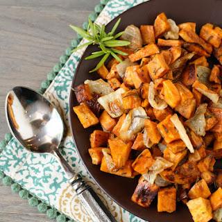 Roasted Sweet Potatoes Onions Rosemary Recipes