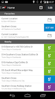 Screenshot of Public Transport Victoria app