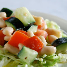 Online Round 2 Recipe - Cucumber, Tomato, and White Bean Salad