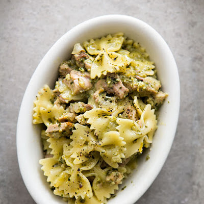 Lemon Pesto Turkey Pasta