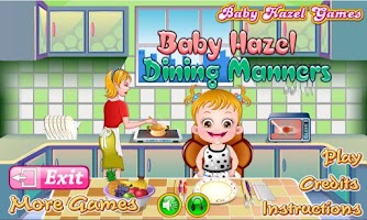 Screenshot of Baby Hazel Dining Manners