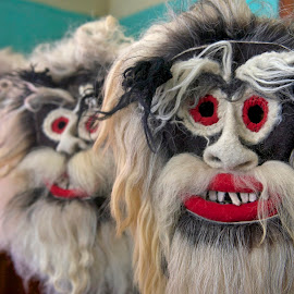 Folk mask from Maramures by Gabriel Motica - Artistic Objects Clothing & Accessories ( maramures, mask, handmade, traditions, wool )
