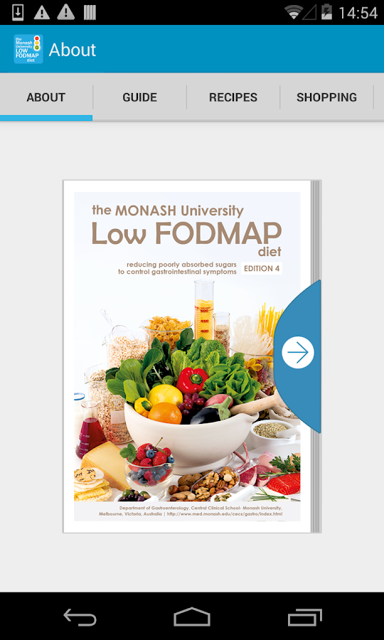 The Monash Uni Low FODMAP Diet Screenshot