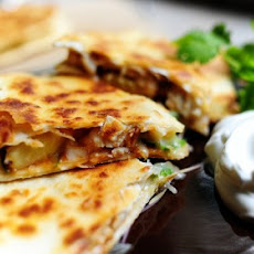 Grilled Chicken & Pineapple Quesadilla