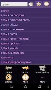 Galician Russian dictionary + - screenshot