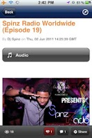 Screenshot of Spinz Radio Worldwide