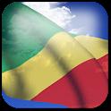 3D Congo Flag + icon