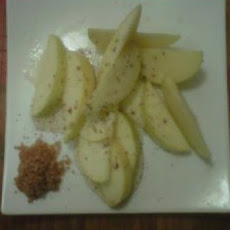 Sweet and Sour Green Apple with Chili Salt
