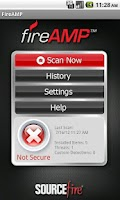 Screenshot of FireAMP Mobile