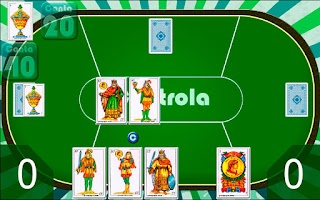 Screenshot of Cuatrola Spanish Solitaire