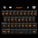 GO Keyboard Black Orange Theme icon