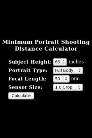 Portrait Distance Calculator