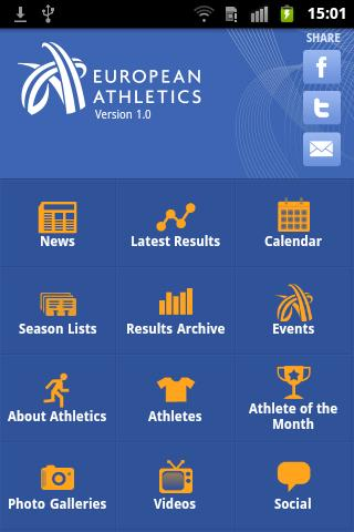 European Athletics mobile