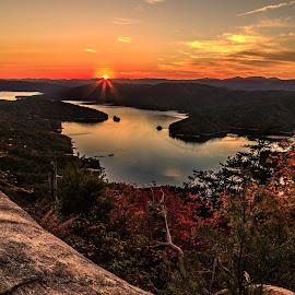 Jocassee Gold by Kevin Senter - Landscapes Sunsets & Sunrises