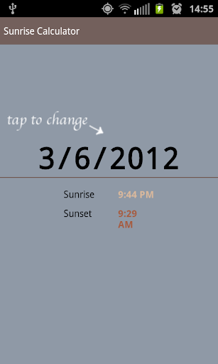 Sunrise Calculator