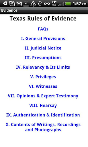 Texas Rules of Evidence 2011