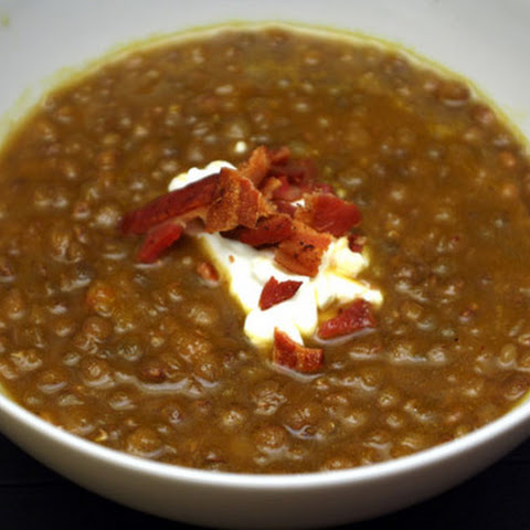 Spicy Ginger and French Lentil Soup