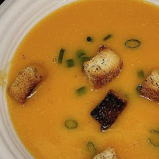 Winter Squash Soup with Gruyère Croutons