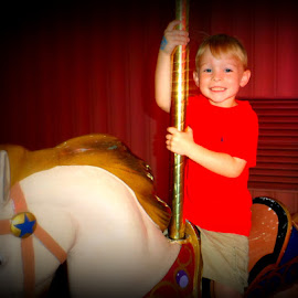 Carousel Ride by Pamm Smith - Babies & Children Toddlers ( toddlers, fair )