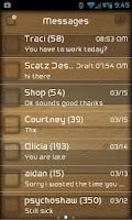 Screenshot of GO SMS PRO WOODGRAIN THEME
