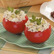 Rice Salad in Tomato Cups
