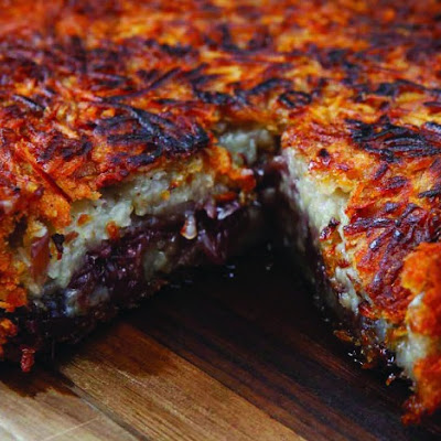 Potato Cake with Sweet Shallot Jam and Thyme