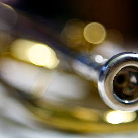 Trumpet by Michelle Latouf - Novices Only Objects & Still Life ( music, mouthpiece, musical instrument, musical, trumpet )