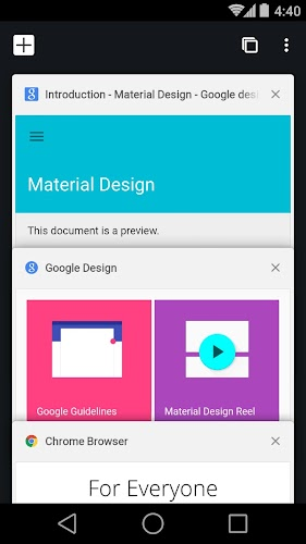 Chrome Browser - Google Android App Screenshot