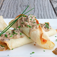 Savory Crepes stuffed with Brie, Ham and Asparagus