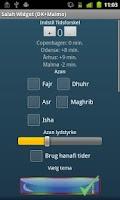 Screenshot of Salah Widget (DK+Malmo)