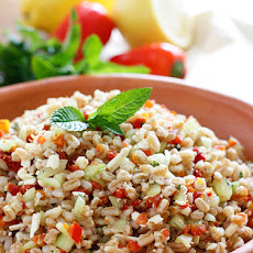 Farro with Feta Cucumbers and Sun-dried Tomatoes