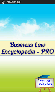Business Law Encyclopedia PRO screenshot for Android