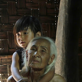 Grandmother & daughter . by Lan Tran - People Portraits of Women