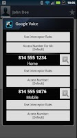 Screenshot of Call Interceptor: Google Voice