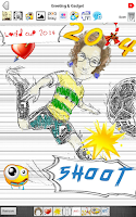 Screenshot of Cartoon MomentCam Sketch