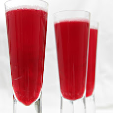 Beet Bellini with Pickled Ginger