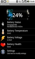 Screenshot of Battery Info