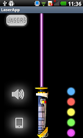Screenshot of Laser Pointer Simulator
