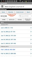 Screenshot of my Medical Journals