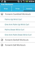 Screenshot of Arm Workouts