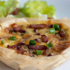Blue Cheese And Bacon Tarts With Baby Gem Leaves