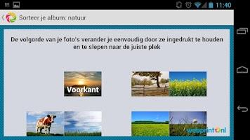 Screenshot of Webprint Fotoalbum