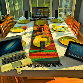 A seat at the table. by Thomas Polk - Buildings & Architecture Other Interior ( interior, hdr, ipad, table, iphone )