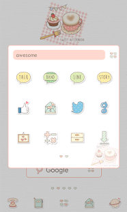 sweet afternoon dodol theme - screenshot
